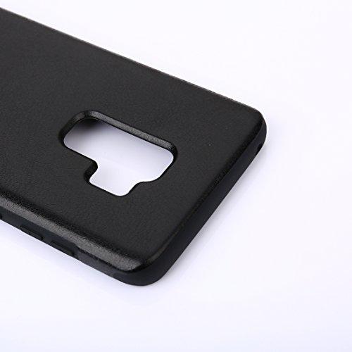 Wkae pour Samsung Galaxy S9 Crazy Horse Texture PU Protection en Cuir Retour Housse