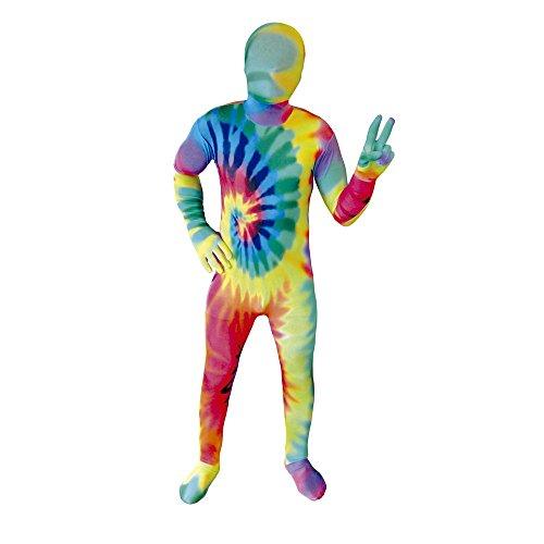 Morphsuits KPTDM - Tie Dye Hippie Kinder Kostüm, 119-136 cm, Größe ()