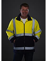 Yoko Men's Yk042/Hvk08 Hi Vis Heavyweight Fleece Jacket