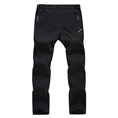 WALK-LEADER Mens Outdoor Casual Windproof Camping Hiking Camping Trousers Pants Size XL Black