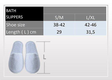 Pantofole in Spugna per il Bagno Uomo/Donna, 100 % cotone Lilla
