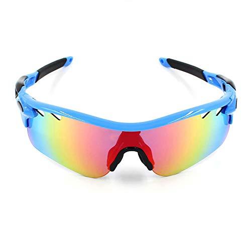 Easy Go Shopping Polarisierte Sport-Sonnenbrille Goggles Motorrad-Brille Lenes für Männer Frauen Radfahren Laufen Fahren Sonnenbrillen und Flacher Spiegel (Color : 2, Size : OneSize)