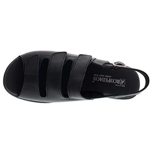 Arcopedico Womens Sandal 3 Leather Sandals Noir