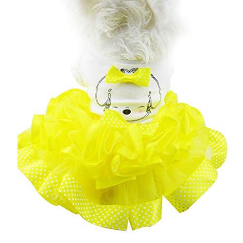 Pet Dogs Cat Kleidung Niedlichen Punkt Bogen Tutu Rock Cartoon Puppy KostüM Princess Wedding - Disney Princess Hunde Kostüm