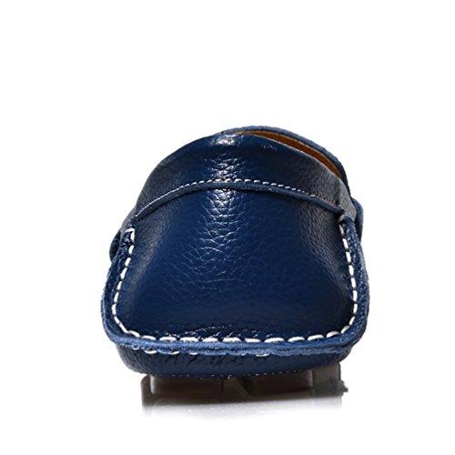 Baymate Homme Slip-on Loisirs Loafers Antidérapantt Chaussures de Conduite Bleu