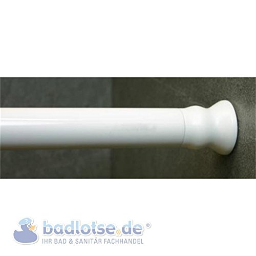 Preisvergleich Produktbild Duschvorhang-Stange 110 - 245 cm Ø 28 mm weiß klemmbar Federstange Klemmstange
