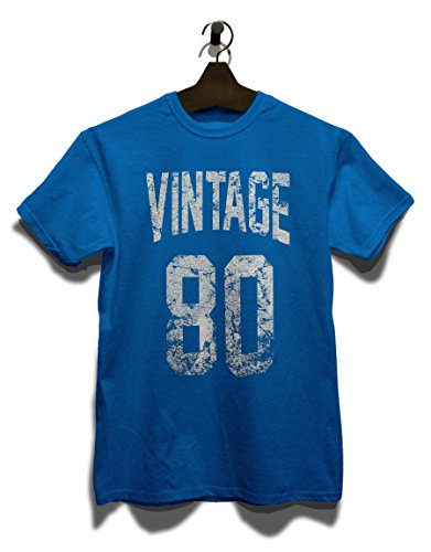 Vintage 1980 T-Shirt Royal Blau