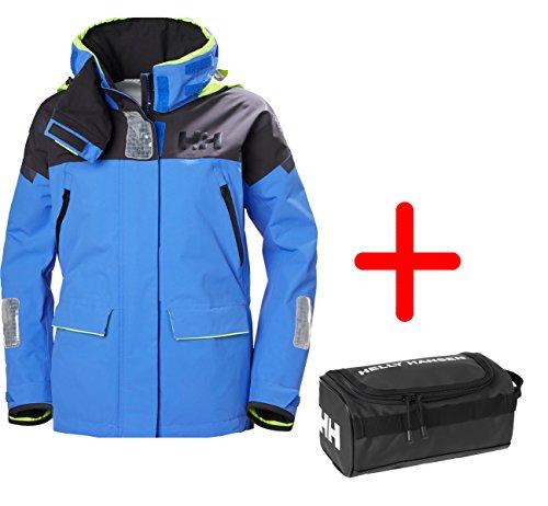 Sport-Outdoorkleidung Helly Hansen Segeljacken für Frauen W Skagen Offshore Jacket Atmungsaktiv - Blue Water Gr. L - Set inkl. Washbag
