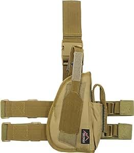Pistolenholster Tiefzieholster in verschiedenen Farben für Links und Rechts Farbe Coyote Größe Rechts