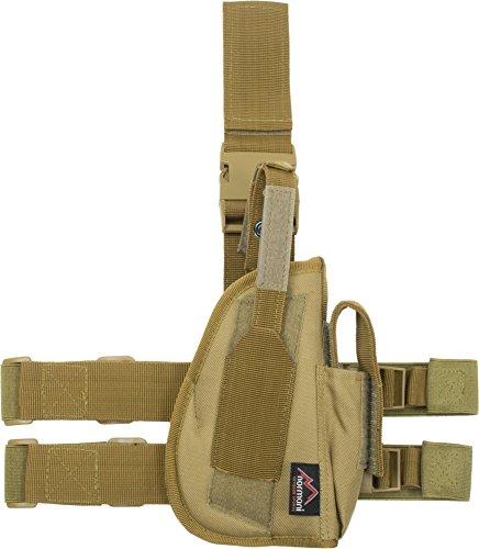 normani Pistolenholster Tiefzieholster für Rechts Farbe Coyote -
