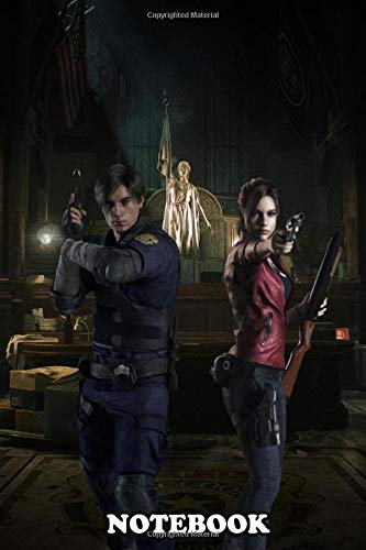 Notebook: Leon S Kennedy And Claire Redfield From Resident Evil , Journal for Writing, College Ruled Size 6