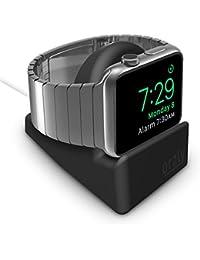 Orzly® Night-Stand for Apple Watch - NERO Supporto con Scanalatura per nascondere il vostro cavo di carico (Grommet caricatore e cavo non incluso)