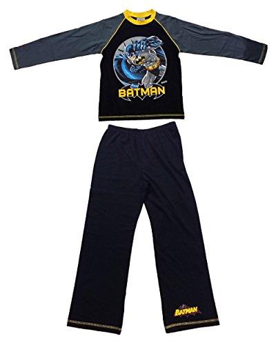 i-smalls Ltd Jungen Langer Pyjama Schlafanzug Schwarz Black/Grey
