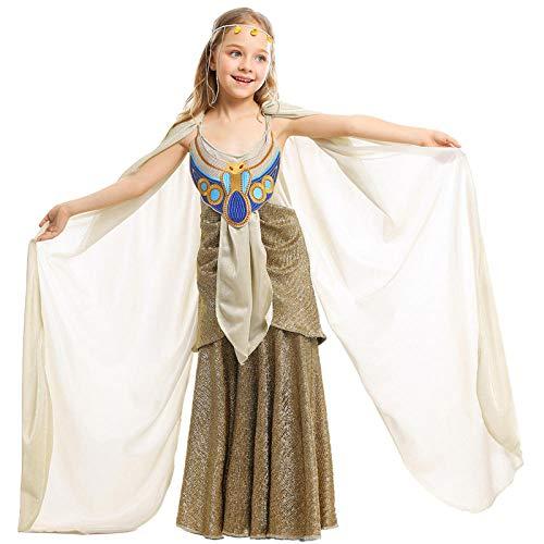 XYL Kleid Verkleidung Kleid Partei/Partei Kostüm Outfit/Geburtstag Child Cosplay Alter Ägypten-Langer Rockkinderleistungskleidung@L Höhe 135-145 - Das Alte Ägypten Kostüm