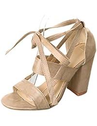 bd969b4419867c Sandalen Damen Sommer Btruely Schuhe Bohemia Sandalen Hochzeit Schuhe  Abendschuhe mit Absatz High Heels Sandalen Outdoor…