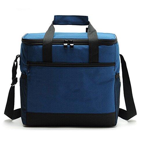Totoose Picknick Kühltasche Oxford 16 L Kühllagerung Frischhaltung Handtasche Umhängetaschen (Marineblau)