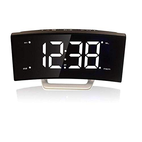 DZXYW Reloj Despertador Reloj Digital LED Radio FM Relojes de ...