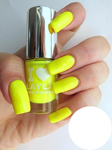 I Love Layla Vernis à ongles by Layla , Jaune fluo , Fluo