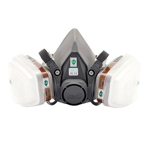 UKCOCO Máscara de pintura Máscara de polvo y respirador, Protección respiratoria profesional contra el polvo Arte de aire Pintura química industrial para pintores y Proyectos de bricolaje