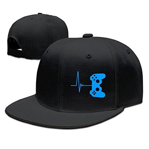 Fashion Heartbeat of A Gamer Caps Cap Flat Along Baseball Caps