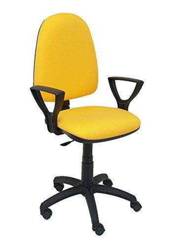 Silla de oficina amarilla modelo Ayna con ruedas