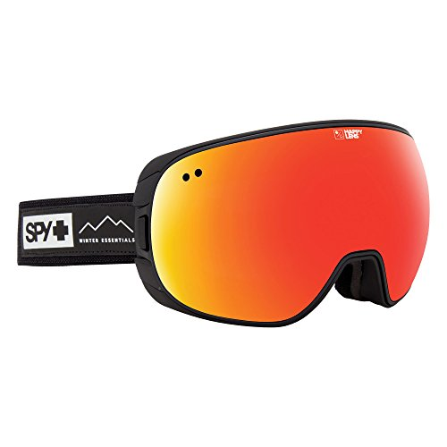Spy Goggle Doom (with/Bonus Lens) Skibrille, Waxed Black Gray Red Spectra Happy Yellow w/Lucid Green, One Size