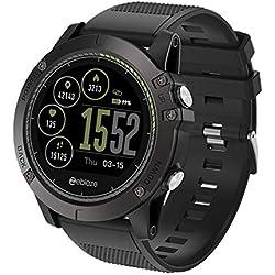 fiveschoice Reloj Inteligente Zeblaze Vibe 3 HR Registro de Actividad de Todo el día 1.22 'IPS Pista de Movimiento Frecuencia cardíaca de Soporte (Negro)