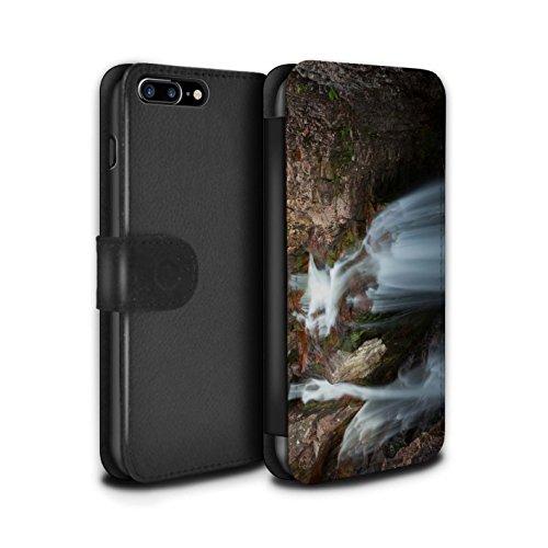 STUFF4 PU-Leder Hülle/Case/Tasche/Cover für Apple iPhone 7 Plus / Tal Muster / Schottisch Landschaft Kollektion Kaskade