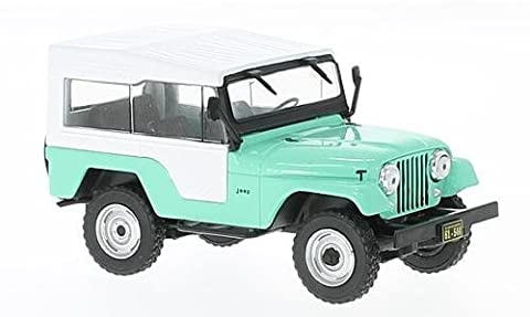 Jeep CJ-5, vert clair/blanc, 1963, voiture miniature, Miniature déjà montée, WhiteBox 1:43