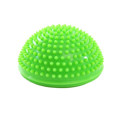 Igelball Massagebälle Halbkugel 16x9cm Triggerpunkt Körper Sport Balance Farbenauswahl - grün