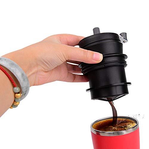 Tenlso Keramik-Kaffeemühle, Hamkaw Hand Kaffeebohnen Mühle tragbar Manuelle Kaffeemaschine mit Lebensmittelqualität, verstellbare Kaffeemaschine für präzises Brauen - Batterien Kaffeemaschine Mit