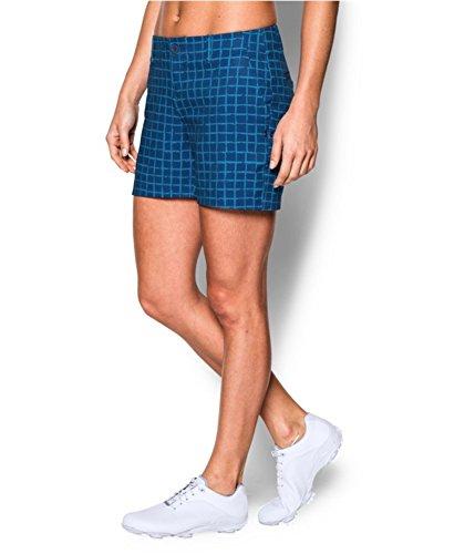 Under Armour Damen Golf Grid Casual Walking Shorts, Damen, Dynamo Blue/Sky Blue/Cobalt, 8