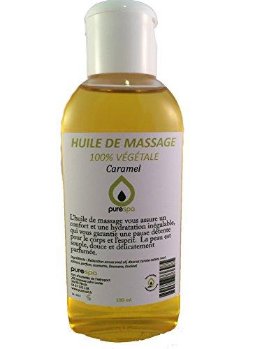 Massage Oil, 100% pflanzliches Duft caramel- 100ml