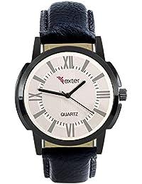 Xurious Enterprise Round Dial Analogue White Dial Black Leather Strape Fashion Wrist Watch For Men & Boys | XE-FX...