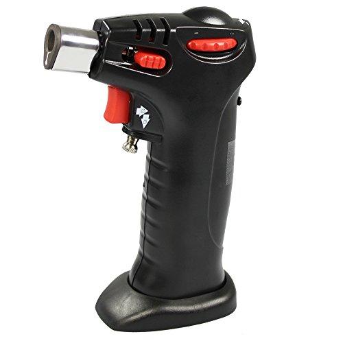 COM-FOUR® Mini Flambiergerät zum Überbacken, Flambieren und Karamellisieren (Flambierer)