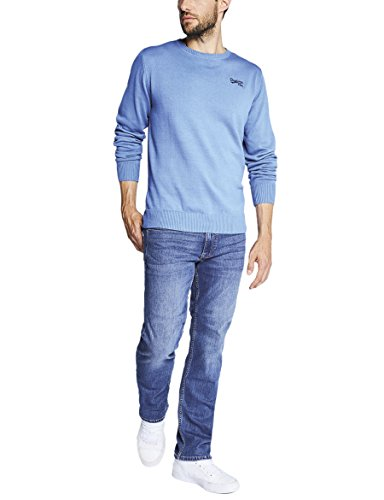 Oklahoma Jeans Herren Straight Jeans Blau (Light Stone 006)