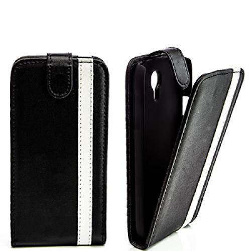 Pieghevole Flip Case Cover Per Samsung I8160Galaxy Ace 2II Nero Bianco Custodia protettiva Case Cover Custodia Cover Custodia Cover Bag Nuovo