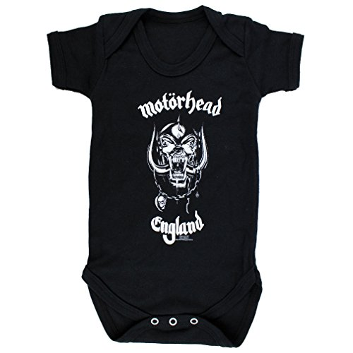 Motorhead Baby body-England-Tutina Nero nero nero 18-24 mesi