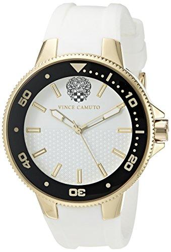 Vince Camuto Femme VC/5282gpwt Couleur or et blanc Bracelet en silicone montre