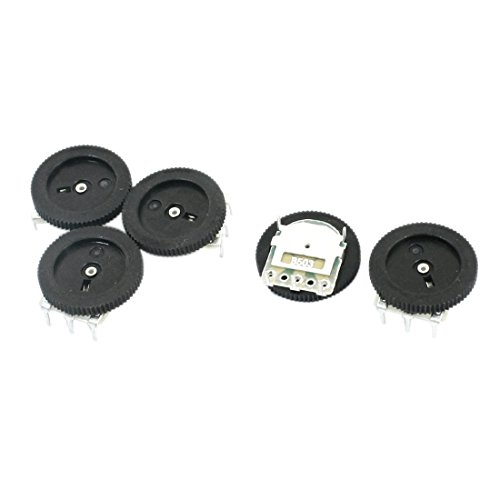 sourcingmapr-b503-16x2mm-50k-ohm-dial-taper-volume-pulley-gear-wheel-potentiometer-5-stucke
