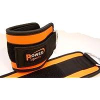 Tobillo o pierna correa neopreno (negro)/naranja para pierna ejercicio (vendido par)
