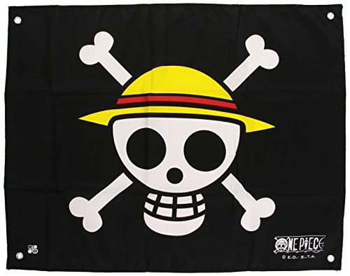 AMuebles y Decoración - One Piece - Bandera - Cráneo - Luffy - 50 x 60 cm