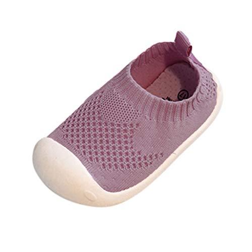 SEWORLD Sandalen für Kinder Sommer Jungen Mädchen Mesh Sport Laufen Freizeitschuhe Lauflernschuhe Einzelne Schuhe Krabbelschuhe Weiche Sohle Turnschuhe Laufschuhe(Rosa,24 EU) - Kinder Turnschuhe Für Graue
