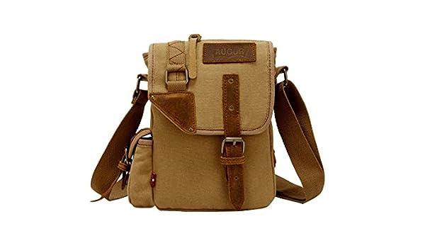 91ba20e4e1 jeansian Fashion Homme Sacoche Besace Loisirs Sacs Men's Womens Unisex  Canvas Messager Hang Bag BG029 Khaki: Amazon.fr: Vêtements et accessoires