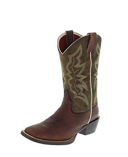 Justin Boots Stiefel 2569 Braun Green Herren Westernreitstiefel