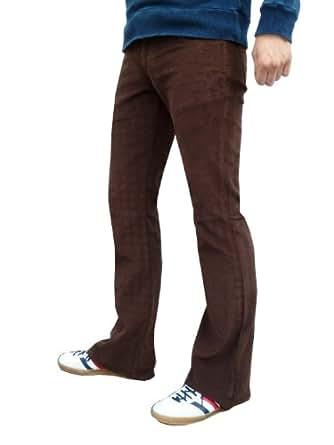 Mens brown bootcut flared cords 30 32 34 36 (30 waist 30 leg)