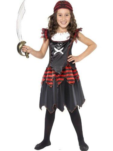 stüm Piratin Pirat Mädchen Gr. 110-122 (S), 128-134 (M), 140-158 (L), Größe:L (Kleines Mädchen Piraten-kostüme)