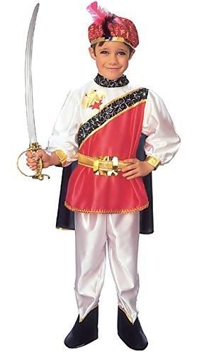 te ♛ Größe 110 - 3 / 4 Jahre - Kostüm Verkleidung Karneval und Halloween von Prinz Edle König Farbe Rot Männliches Kind (Männliche Prinz Kostüm)