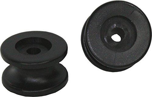 3x Rundknopf Kunststoff bis 8mm Seilduchrmesser Planenknopf Expanderseil schwarz