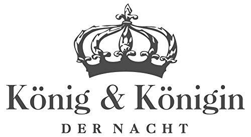 Wandtattoo Spruch Schlafzimmer König und Königin der Nacht Krone Bett